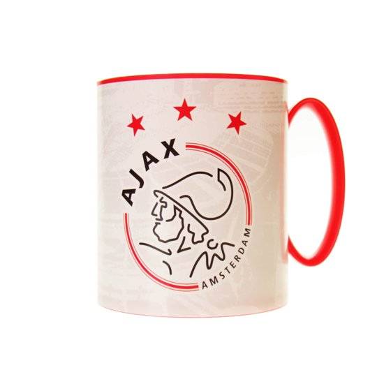 Ajax Mok - Wit/rood - 350 Ml