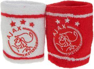 Ajax Zweetband Pols Rood/wit 2 Stuks
