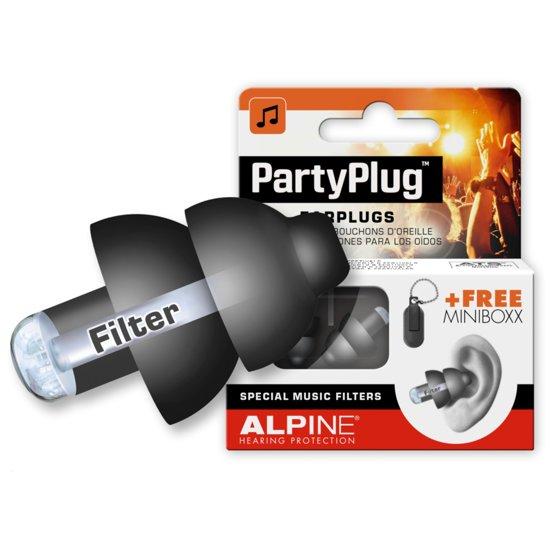 Alpine PartyPlug - Muziek oordoppen zwart