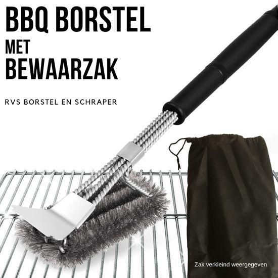 BBQ Borstel met Schraper