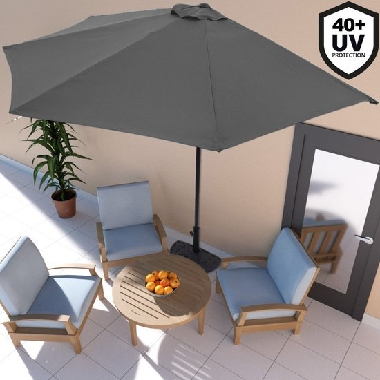 Balkon parasol - Half rond model