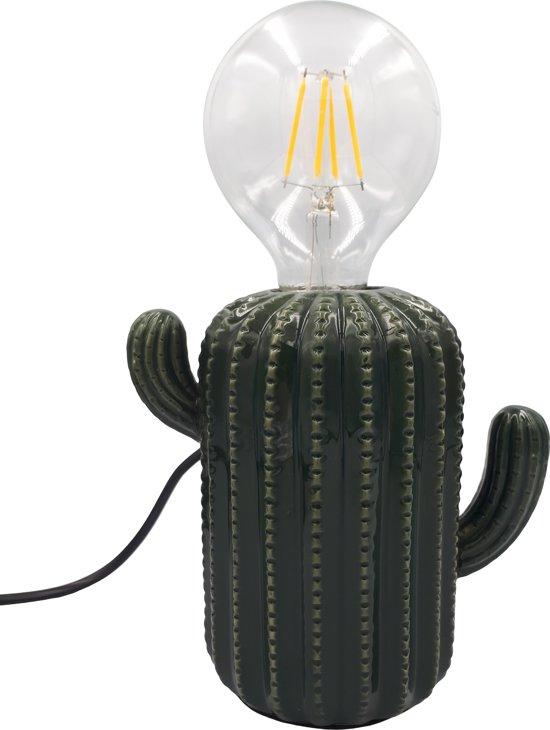 Cactus Lamp-15x16cmp-Keramiek-Donker Groen-Housevitamin