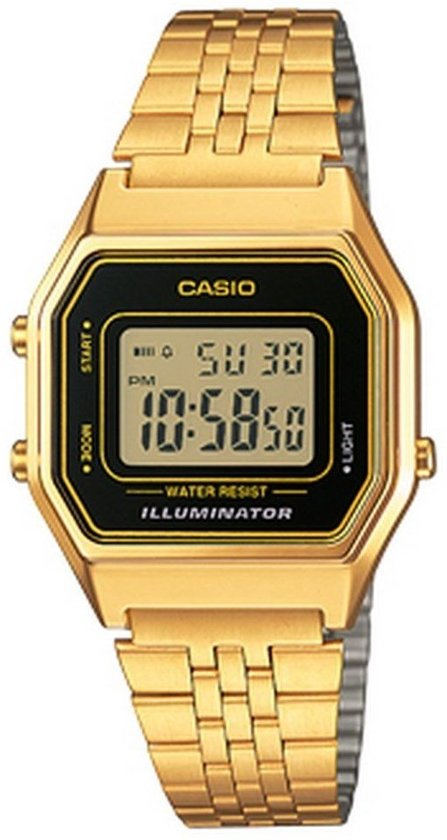 goud casio horloge