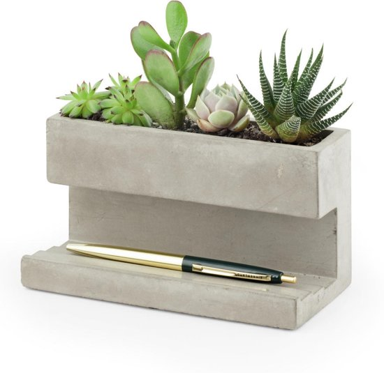 Concrete Desktop Planter Large
