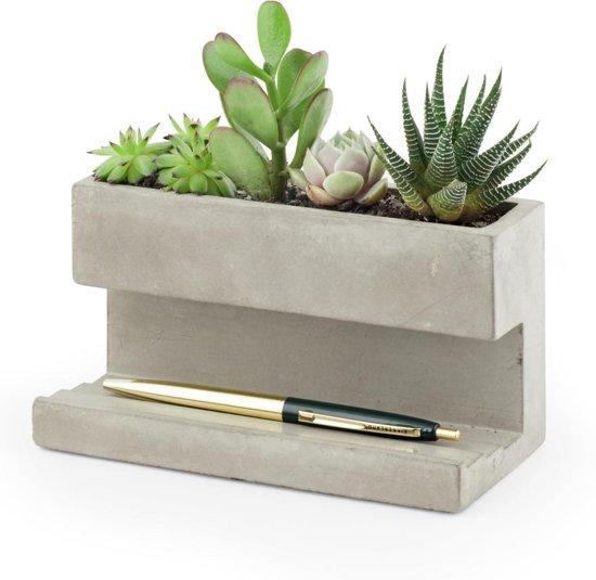 Concrete Desktop Planter Large