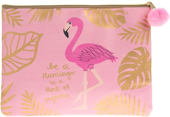 Flamingo make-up tasje