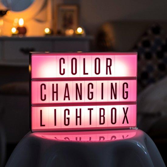 Gadgy Lightbox met 85 letters en symbolen
