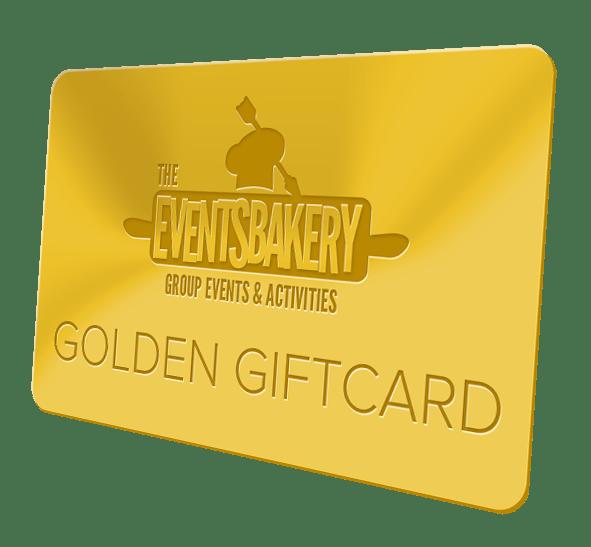 golden giftcard van de eventsbakery
