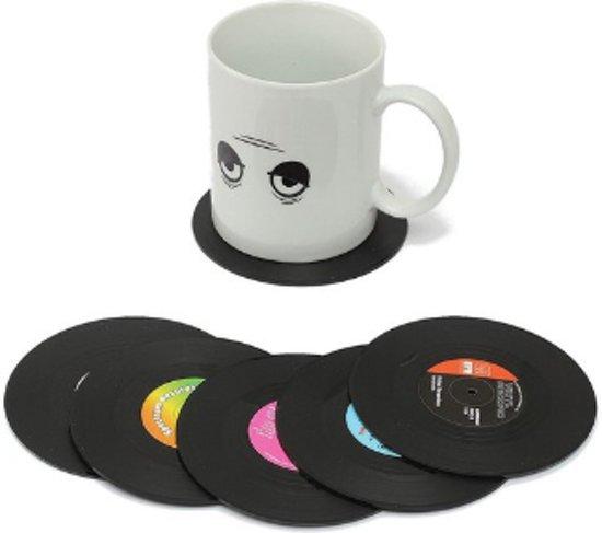 LP Vinyl Onderzetters 6 stuks