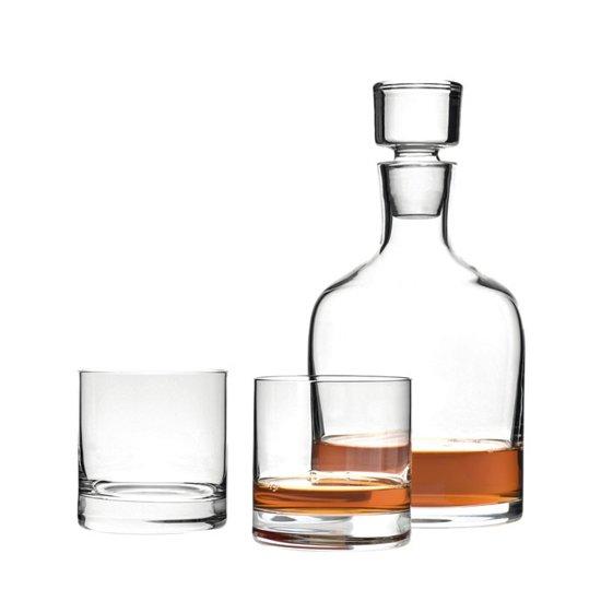 Leonardo Whiskeykaraf met 2 whiskeyglazen