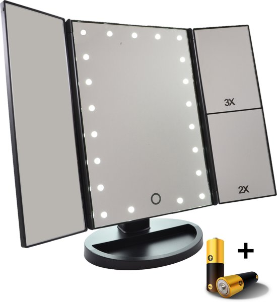Make Up spiegel met LED en batterijen