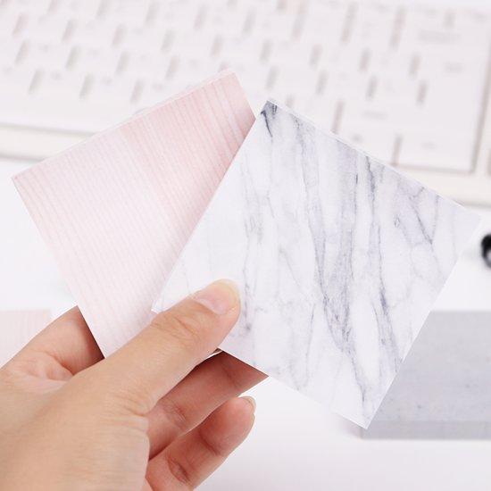 Marmerlook Notitieblokjes roze en wit