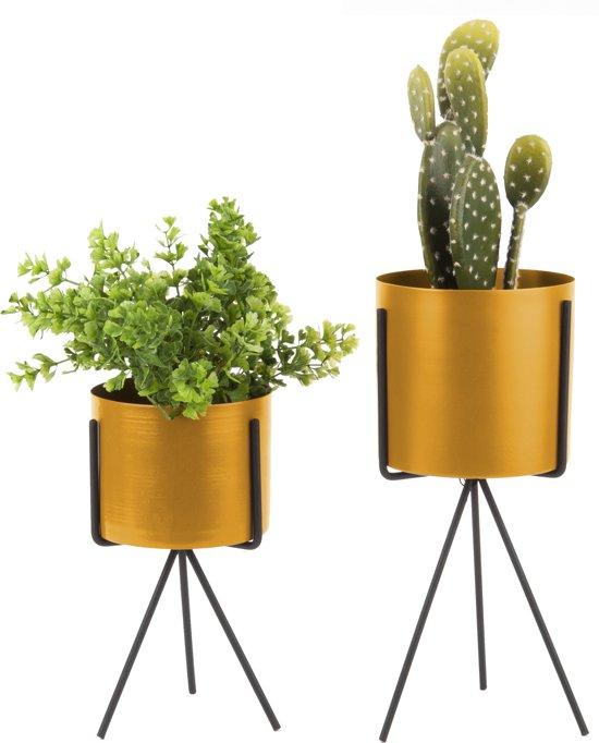 Pedestal - Plantenpot set van 2 goud