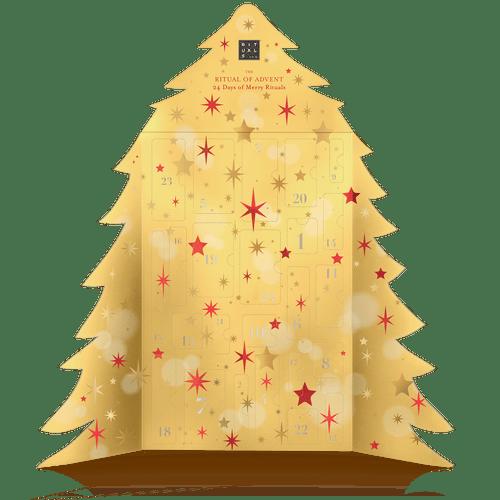 Gouden Rituals Adventskalender in de vorm van een kerstboom