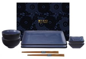 Tokyo Design Studio Glassy Blue Sushi Servies