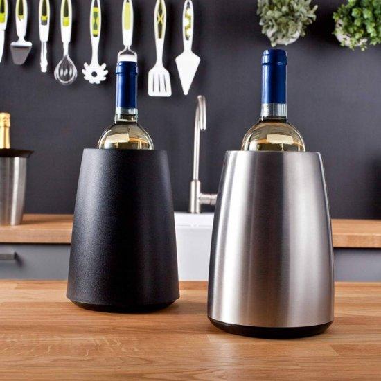 Wijnkoeler in het zwart en zilver