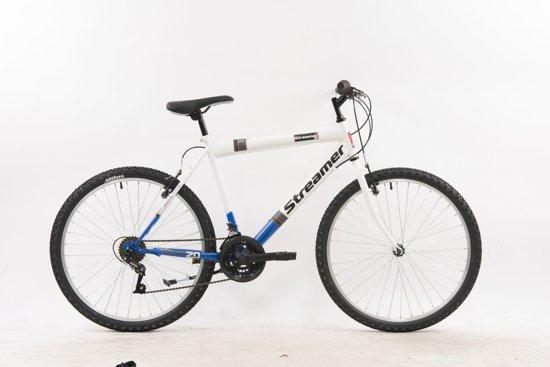 wit blauwe mountain bike van streamer