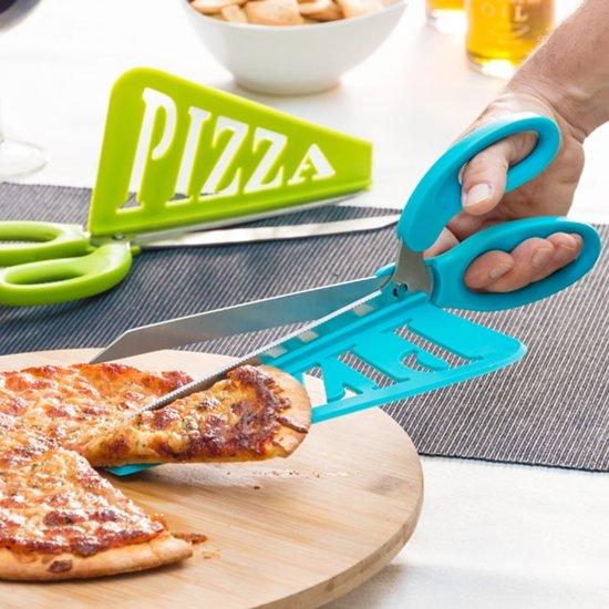 pizza schaar met schep