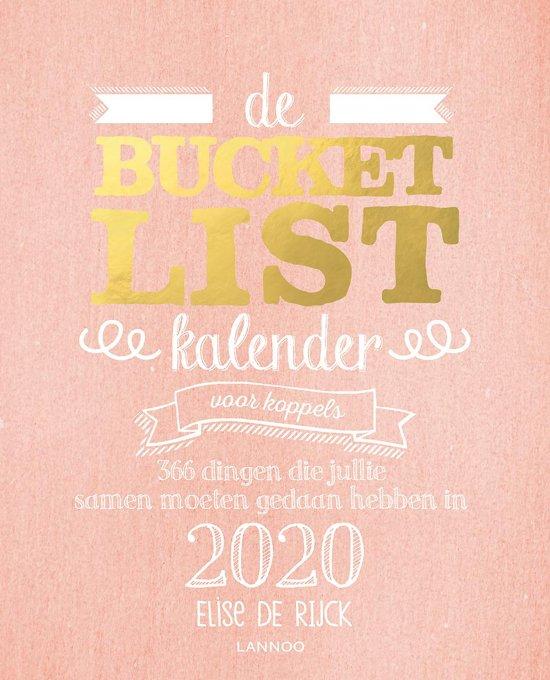 bucket list kalender voor koppel 366 dingen die je gedaan moet hebben
