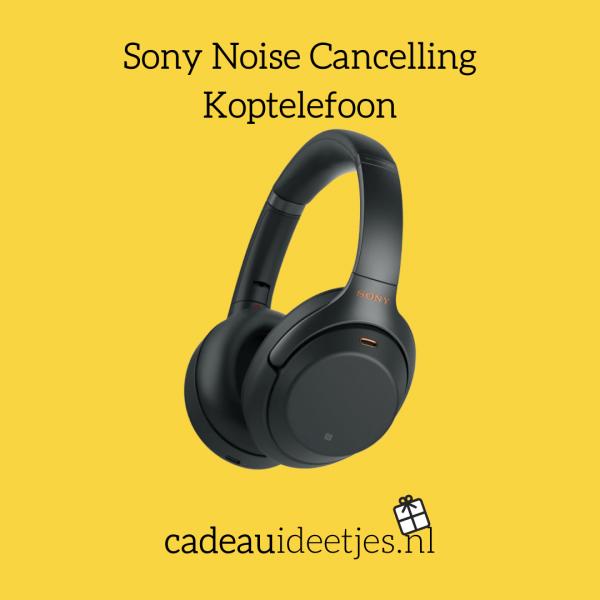Zwarte Sony Noise Cancelling Koptelefoon
