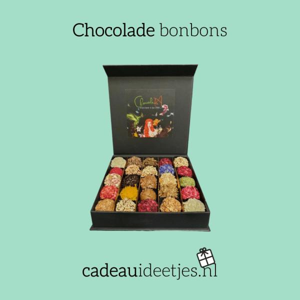 Chocolade bonbons in verschillende smaken