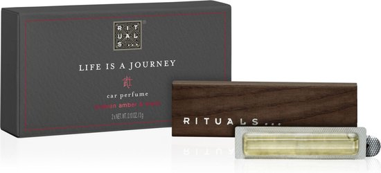 luxe houten autoparfum van Rituals met de geur samurai