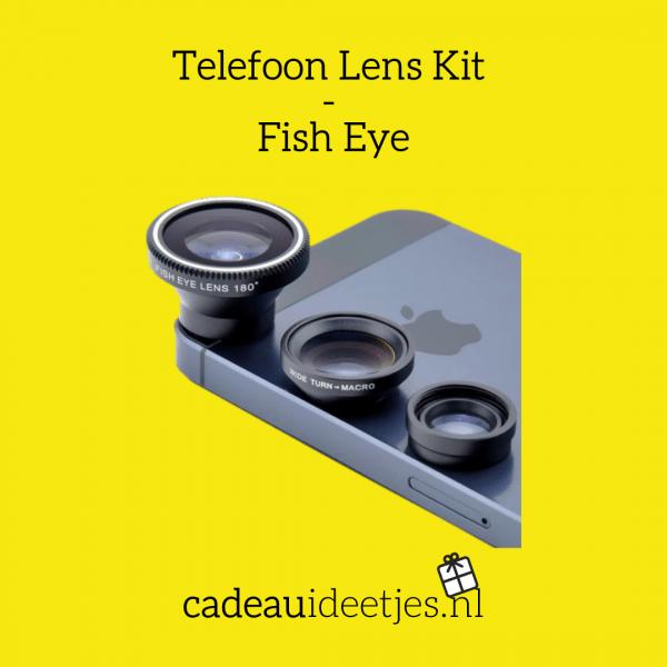 Zwarte Telefoon Lens Kit - Fish Eye