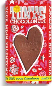 Tony's Chocolonely in hartenvorm