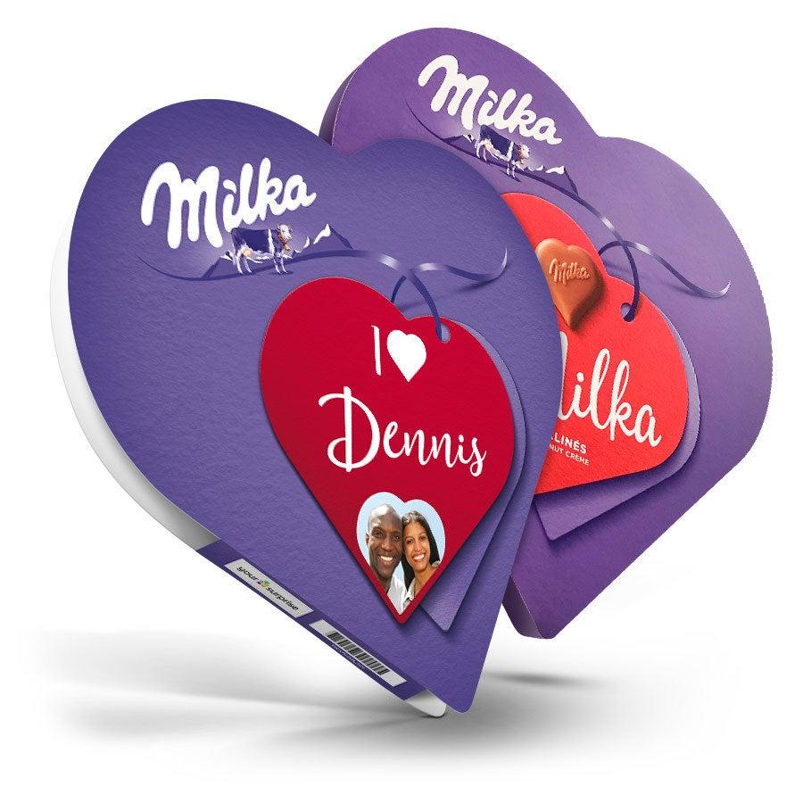 Milka hart met naam en foto