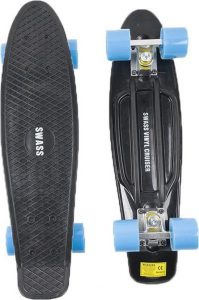 Skateboard Penny Retro Zwart en Blauw