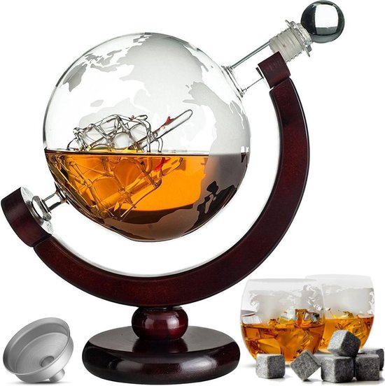 Whiskey Karaf Wereldbol
