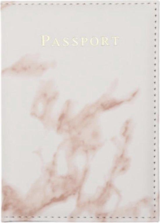 Paspoort Cover Marmer Roze